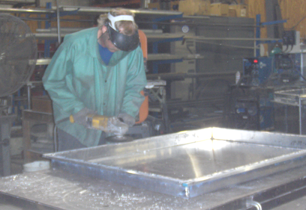 Rotational Molding Tooling Being Fabricated